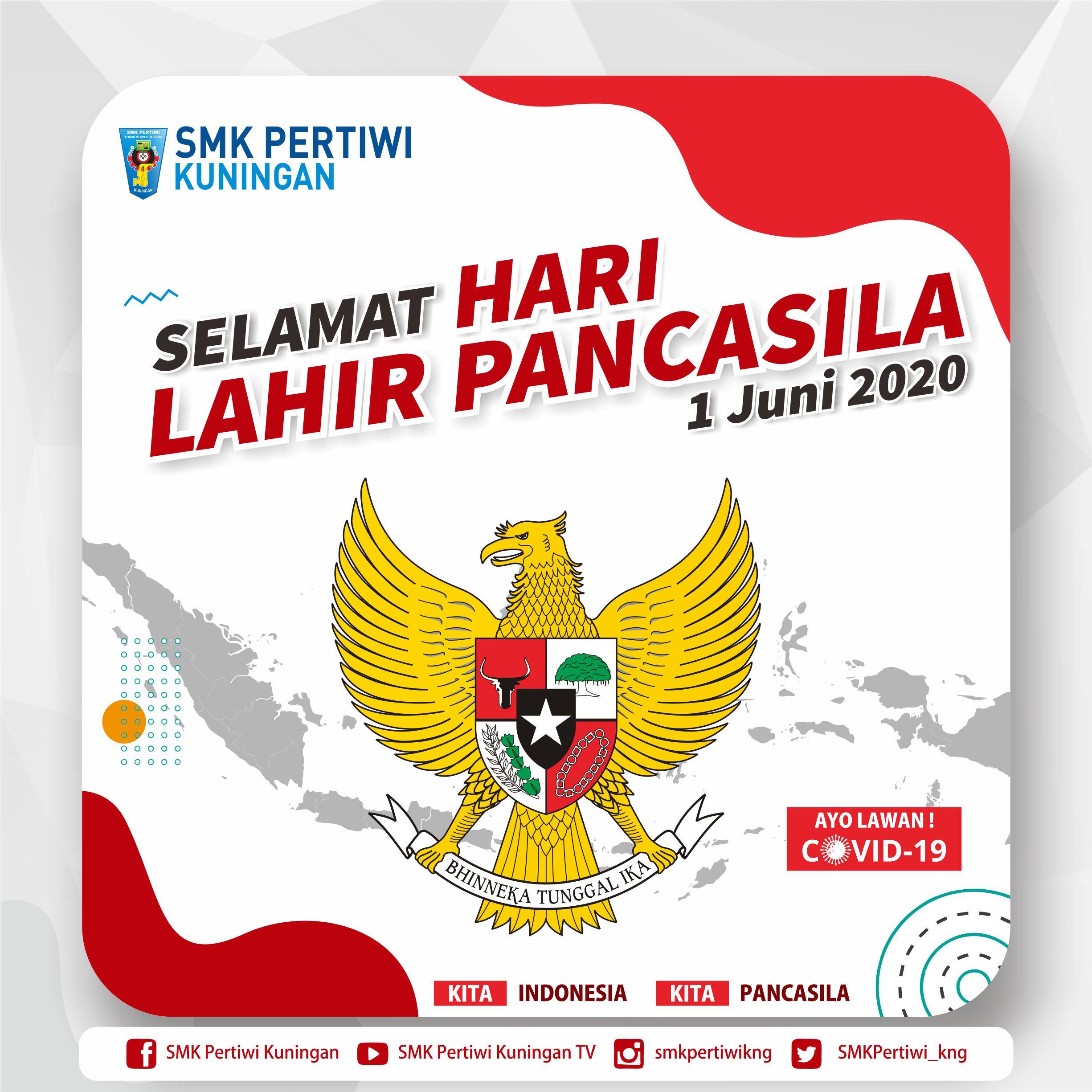 Hari Lahirnya Pancasila 1 Juni 1945 - 1 Juni 2020   SMK ...